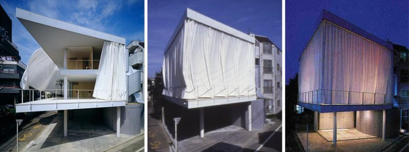 Casa minimalista shigeru ban casa de la cortina for La casa de las cortinas