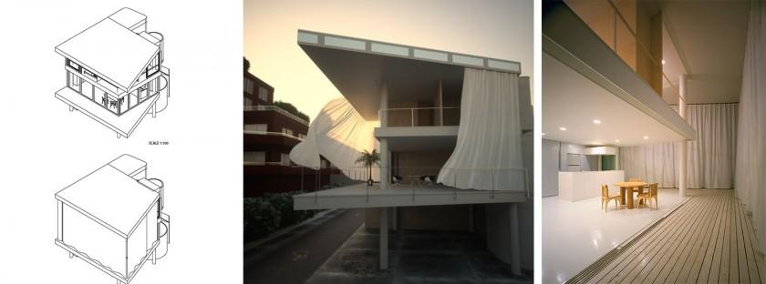 Casa minimalista shigeru ban casa de la cortina - Cortinas para casa de campo ...